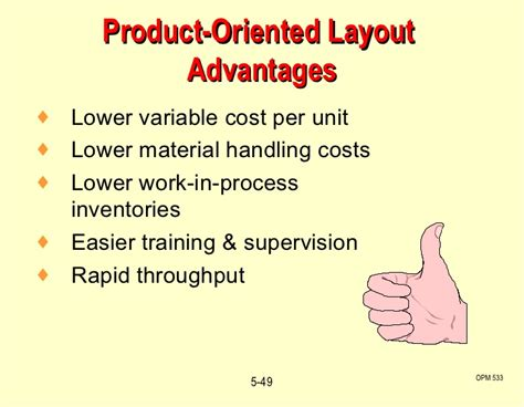product layout advantages and limitations c5 process layout