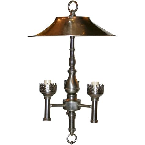 bronze and silver light fixtures silver light fixture with shade for sale at 1stdibs