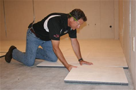 Waterproof Subfloor Installation Belleville   Basement