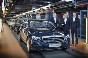 2017 mercedes e class rolls production line