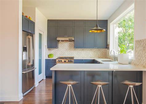 blue kitchen insel photo page hgtv