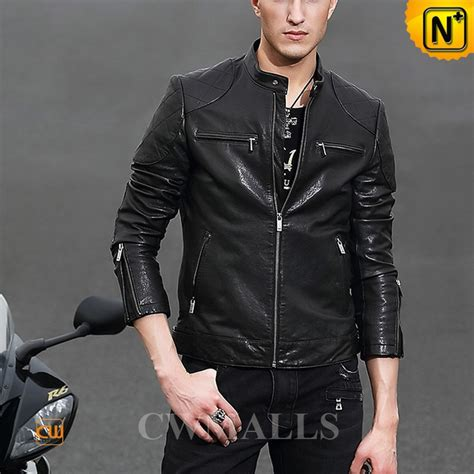 mens black leather motorcycle jacket cwmalls 174 black motorcycle leather jacket cw806036
