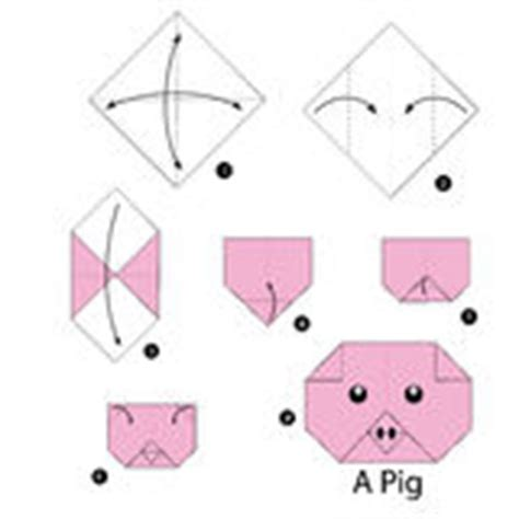 How To Make A Paper Pig - step by step how to make origami stock