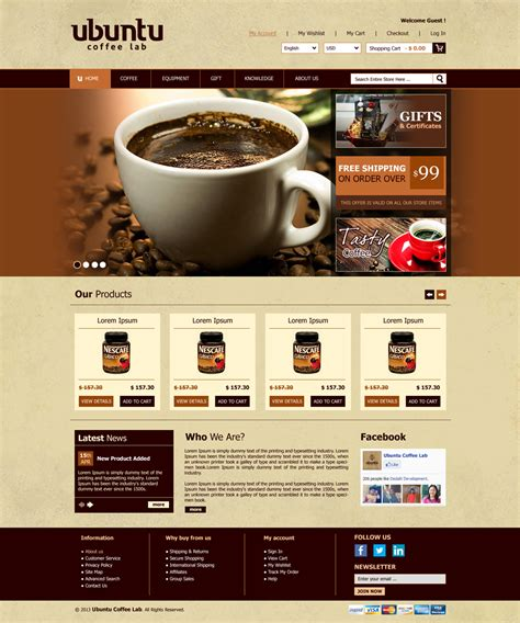 Layout Web Shop | modern professional web design for my coffee box by roy