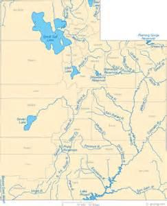 map of rivers and lakes map of utah lakes streams and rivers