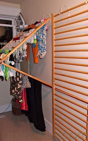 hometalk diy wall mounted clothes drying rack
