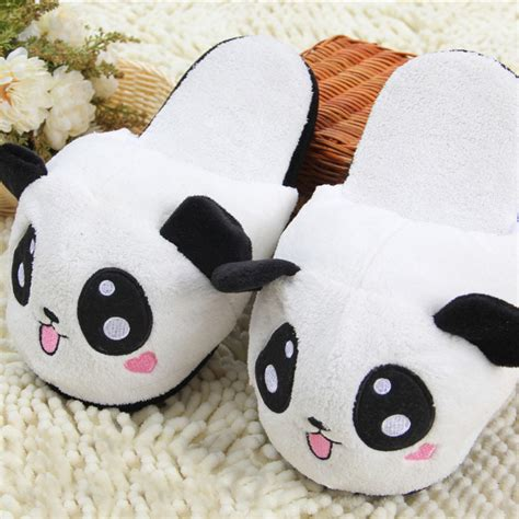 animal house shoes panda slipper pantoufle femme women shoes woman house