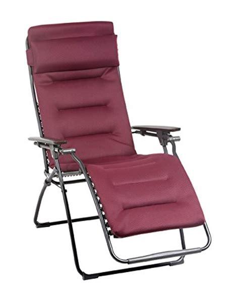 lafuma padded recliner lafuma futura air comfort zero gravity recliner black