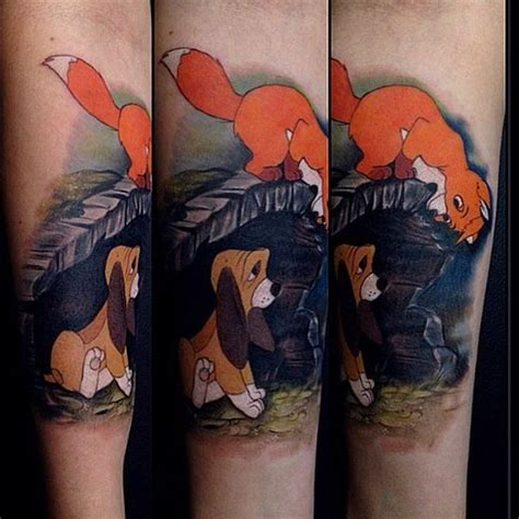 fox and the hound tattoo 1000 ideas about matching disney tattoos on