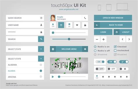 google design ui kit touch 50px ui kit uicloud