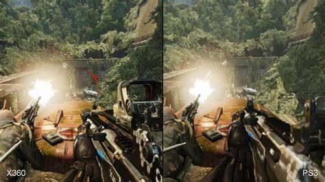 3 crisis analysis one in crysis 3 xbox 360 vs ps3 comparison