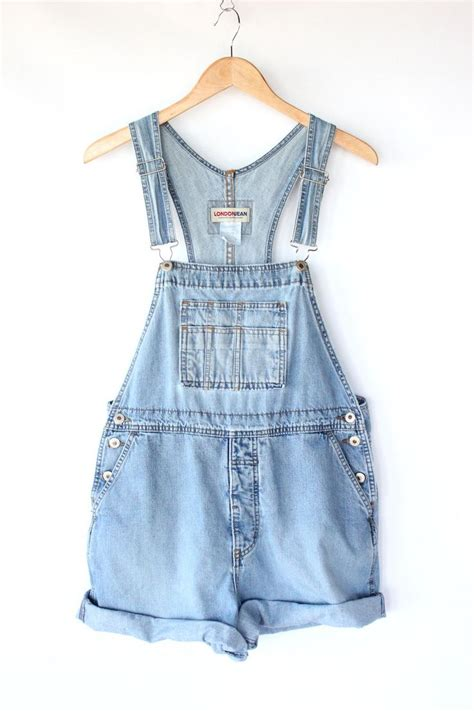 light blue jean shorts vintage denim overall shorts 80s light blue jean bib