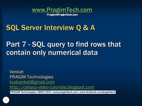 sql query basics tutorial sql server net and c video tutorial part 7 sql query