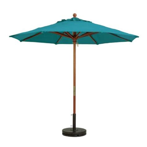 Grosfillex 98943131 7 Ft Turquoise Market Umbrella Turquoise Patio Umbrella