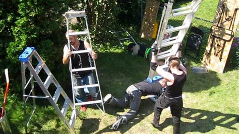 chw backyard wrestling ladder match sm vs team ftw tag team chionship chw