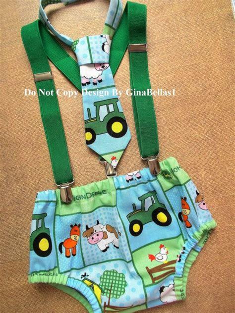 john deere birthday cake smash outfit tractor barnyard farm animals boy suspenders shirt tie