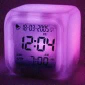 Jam Meja Alarm Pink souvenir jam dadu 7 warna plus alarm dan termometer