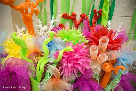 How To Make Decorations by How To Make A Coral Reef Decoration By Press Print