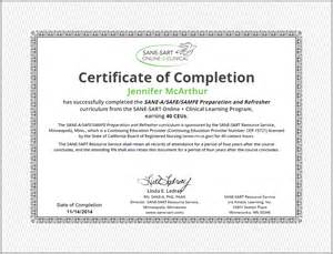 Continuing Education Certificate Template Sane Sart Online Clinical 187 Earn Continuing Education Units