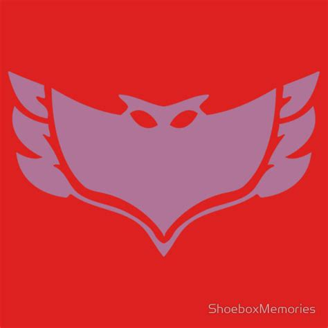 printable owlette mask pj masks owlette crest t shirts and more redbubble