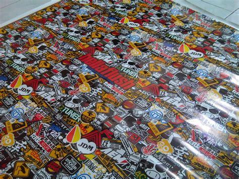 Sticker Glossy Lebar 150 Cm Decal Panace sticker bomb jdm style sticker piggy sticker