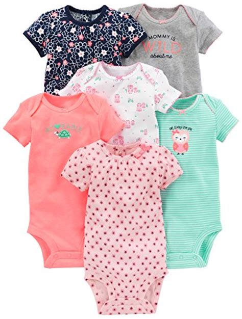 Romper Baby S Blue Fly Bodysuits Premium Quality simple joys by s baby 6 pack sleeve bodysuit pink mint 3 6 months