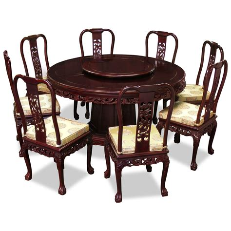 8 Chair Dining Table 60in Rosewood Imperial Design Dining Table With 8 Chairs