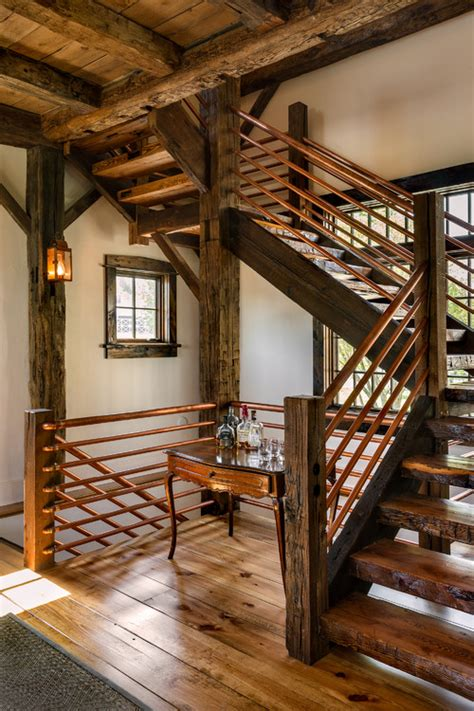 rustic staircase decorating with copper how to incorporate it into your