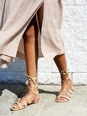 Fresco Schoen Sandal Platform Pink gladiator look romeinse sandalen schoenen trend
