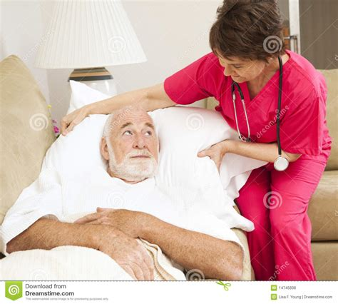 Patient Comfort by Home Health Patient Comfort Royalty Free Stock Photos