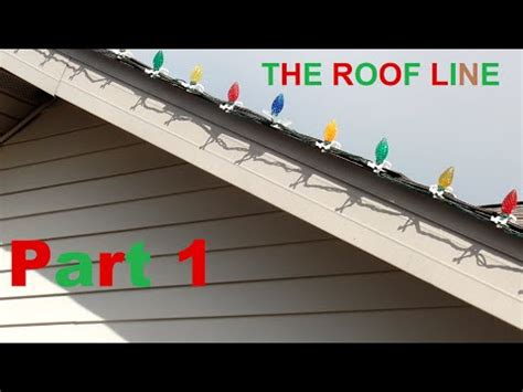 attaching lights to roof line light for roof line shingle and gutter