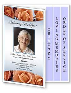 Funeral Program Template Download Funeral Program Template 4 Page Graduated Memorial Roses
