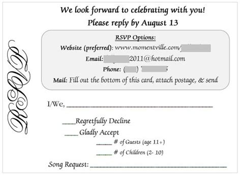 wedding rsvp card email is an rsvp tacky weddingbee