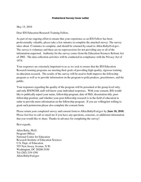 cover letter for postdoctoral fellowship cover letter