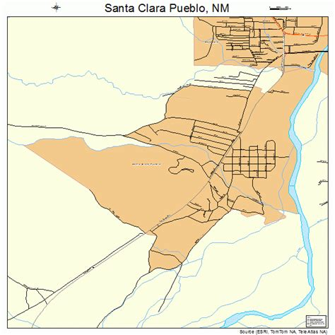 santa clara map santa clara pueblo new mexico map 3570390