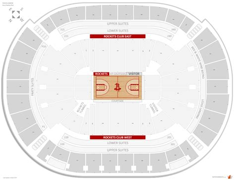 Seating At Toyota Center Houston Rockets Seating Guide Toyota Center