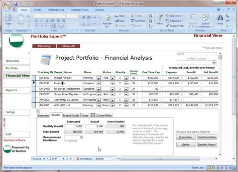 microsoft access projects template opengate software inc