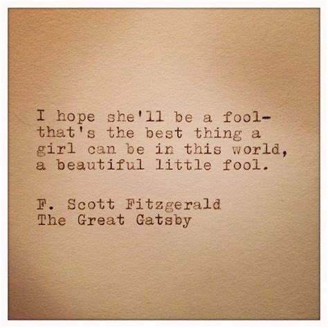 the great gatsby themes hope great gatsby quote typed on typewriter beautiful l wren