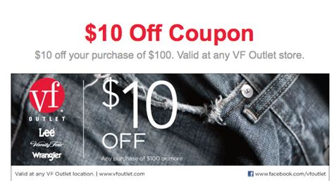 printable vf outlet coupons vf outlet 10 off 100 printable coupon expires 12 31
