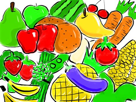 vegetables 7 months fruits vegetables clipart nutrition month pencil and