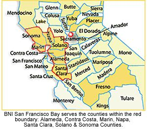 san francisco napa map business referrals networking sales selling san