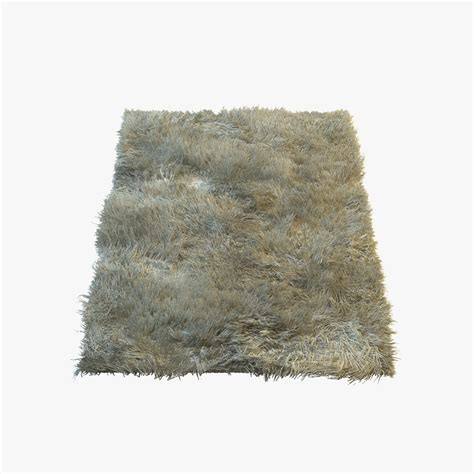 3d model rug 3d model of fluffy fur carpet