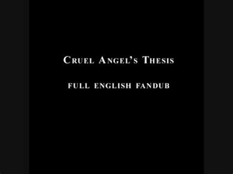 cruel thesis lyrics neon genesis evangelion cruel s thesis
