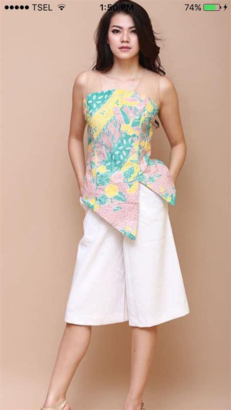 pin oleh paula prasetya   batik wanita pakaian blus