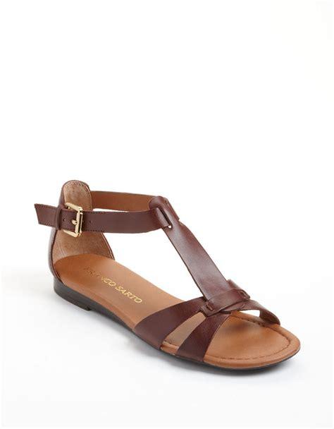 franco sarto sandals franco sarto gracy leather tstrap sandals in brown