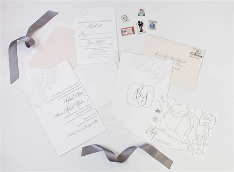 Dodeline Wedding Invitations, Charleston graphic design