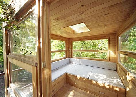 Playhouse Shed Plans baumraum s tiny tree cubes are colorful retreats set high