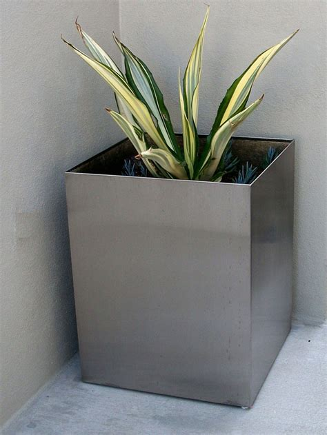 Stainless Steel Planters by Stainless Steel Planters