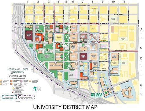 map of oregon universities portland state