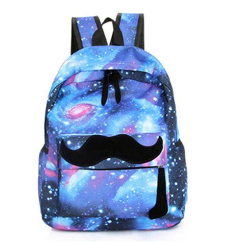 vans pattern backpack 2016 girls boys canvas backpack moustache galaxy school